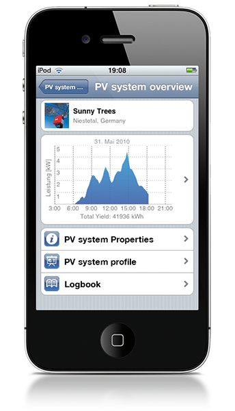 Solar monitoring app iphone