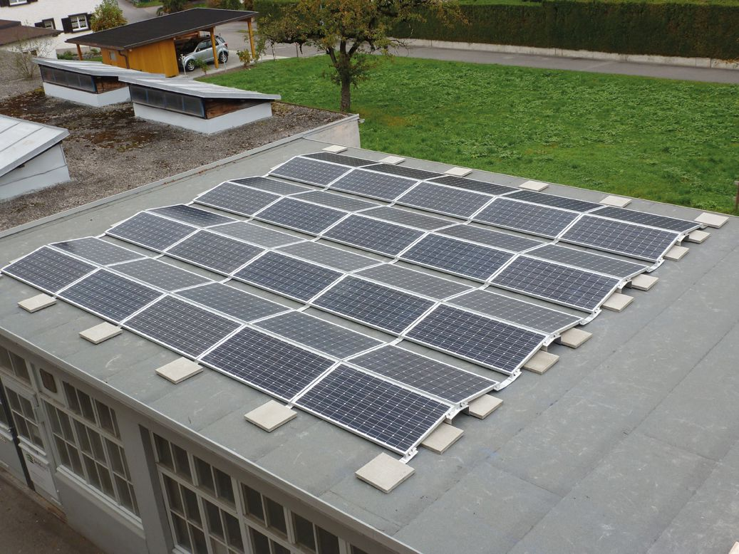 solar rooftop nonpentrating solar racking